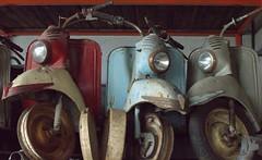 Puch-Roller (Bettina.Gerstb.) Tags: scrapyard cars rust motorcycles vintagecars schrottplatz oldtimer rost motorrad autos