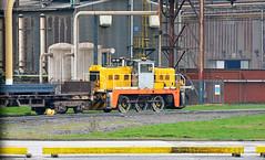 Janus shunter at Scunthorpe steel works (robmcrorie) Tags: scunthorpe steel works lincolshire british frodingham appleby rps brake van tour factory train rail railway steam janus class shunter yorkshire