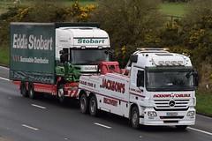 GK09PFA  Jacksons, Carlisle   PK60SZE  M450  ''Lyn Kathleen''  Eddie Stobart, Carlisle (highlandreiver) Tags: gk09pfa gk09 pfa jacksons recovery breakdown truck lorry mercedes benz carlisle cumbria scania wagon eddie stobart ltd m4450 pk60sze m6 wreay