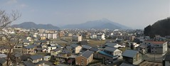 Mt. Hino seen from top of Okamoto-yama (anthroview) Tags: panorama canons110 stitchedpanorama fukuiken ruraljapan 武生、越前市、915 福井県、 hinosan mthino okamotoyama