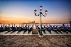 Sunrise In Venice - Reloaded (Luca Libralato) Tags: venezia venice alba sunrise dawn gondola mare laguna lagoon boats canoneos5d4 canon1740 ndfilter bw libralato lucalibralato clear day outdoor sea moon