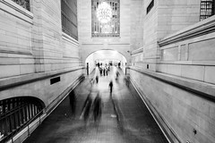 Grand Central Terminal 2 (Jakub Slovacek) Tags: gct grandcentralterminal manhattan nyc newyork newyorkcity people usa unitedstates architecture blackandwhite blur building bw city indoor landmark longexposure midtown station terminal train travel urban us