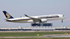 """9V-SMF Singapore Airlines Airbus A350-941 """"10,000th Airbus Aircraft"""" special colours (Nick Air Aviation Photography) Tags: img2155 9vsmfsingaporeairlinesairbusa350900 aviationphotography milanmxpairport travel landing aircraft nickairphotography canoneos760d airport 1543"""