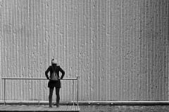 My favorite wall (Daniel Nebreda Lucea) Tags: black white blanco negro wall muro pared texture textura minimalism minimalismo minimalistic minimal lines lineas shadows sombras urban urbano people gente girl chica woman mujer city ciudad street calle silhouette silueta contrast contraste composition composicion architecture arquitectura simple sencilla negative space espacio negativo zaragoza europe europa travel viajar noir building edificio structure estructura floor suelo shapes formas lights luces light luz