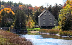 Old Mill on Rocky Saugeen River - IN EXPLORE (Lois McNaught) Tags: oldmill mill rockysaugeenriver durhamontario canada oldbuilding