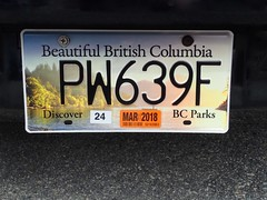 Bal's  New Plates -   Porteau Cove, Howe Sound (I Flickr 4 JOY) Tags: licenceplate bc britishcolumbia supportparks beautifulbritishcolumbia bal porteaucove