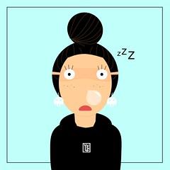 Oggi è un po' così 😴 (Yelena Maria Drinkie) Tags: sonno tantosonno sleeeping autoritratto selfportrait cartoon illustrazionedigitale vector illustrazione illustration vectorillustration vectorportrait