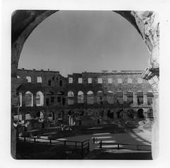 210417001 (francescoccia) Tags: roma anfiteatro istria croazia pola 125 fp4 ilford tlr rollei rolleiflex square mediumformat 6x6 120 blackwhite bw bn francescoccia analogue analog