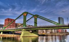 Flößerbrücke (or Raft Bridge) (creati.vince) Tags: architecture creativince frankfurt germany mainhattan bridge