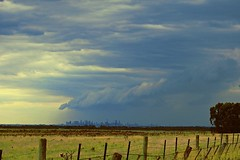 Melbourne under a cloud!! (maginoz1) Tags: melbourne city clouds storm manipulate march 2017 autumn sky bulla metro victoria australia canon g3x skyscape landscape