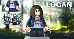 LEGO Logan : X-23 (MGF Customs/Reviews) Tags: lego logan x23 laura hugh jackman dafne keen custom figure minifigure unicorn horse claws whatever