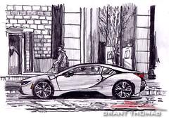BMW i8 Live Sketch (ferrariartist) Tags: graphite sketch exotic automobile car bmw i8 artwork art automotive