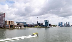 View on Rotterdam (Mariannevanderwesten) Tags: water rotterdam clouds nikon euromast view boat boot