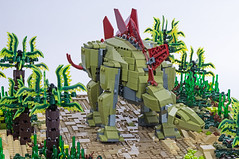 24 Jurassic Brick - Stegosaurus Inset (Janet VanD) Tags: legodinosaurs brickdinosaurs legostegosaurus stegosaurus