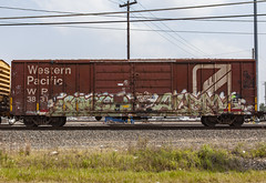 (o texano) Tags: houston texas graffiti trains freights bench benching alamo alb