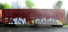ICH - cuba (timetomakethepasta) Tags: ich ichabod yme 63 cuba gfr freight train graffiti art ianr boxcar benching selkirk new york photography