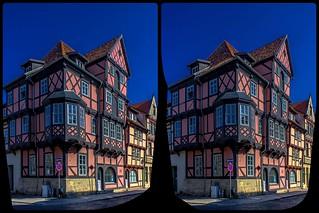 Quedlinburg timber-framed town houses 3-D / Cross-View / Stereoscopy / HDR / Raw