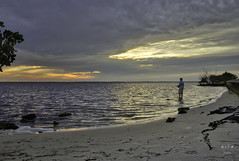 My Theory As To Why Fishing Is So Relaxing (SteveFrazierPhotography.com) Tags: landscape seascape shore shoreline mangrove sunset evening clouds reflection water waves sand rocks cloudy poncedeleon historicalpark puntagorda charlotteharbor peaceriver charlottecounty southwestern florida fl stevefrazierphotography may 2016 fishing fisherman beautiful reflections horizon colorful color footprints