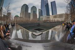 9-11 Memorial Fisheye View (ThruKurtsLens.com (Kurt Wecker)) Tags: 142428 911museum d810 fisheye kurtwecker newyork nikon oneworldtrade streetphotography thrukurtslenscom