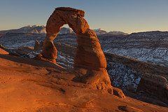 The love we give away is the only love we keep… (ferpectshotz) Tags: delicatearch lasalmountains moab utah southwest usa america sunset arch nature archesnationalpark