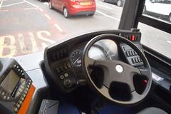 Stagecoach in Chester 10835 - SM66 VBE (North West Transport Photos) Tags: stagecoach stagecoachmerseysideandsouthlancashire stagecoachmerseyside stagecoachchester adl alexanderdennis enviro enviro400 e400 e40d mmc e400mmc enviro400mmc sm66vbe 10835 liverpool crosshallstreet x8 chester bus cab dashboard steeringwheel