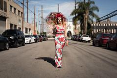The Day of the Dead (Geoff Livingston) Tags: dia muertos portrait street umbrella walking woman cars