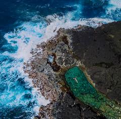 QUEENS BATH (Chris Arace) Tags: red drone dji mavic pro ocean swim float bath adventure outdoors travel waves surf kauai hawaii queens hanelei portfolio flight landscape explore