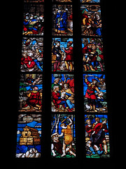 Noah's Ark & Cain and Abel (█ Slices of Light █▀ ▀ ▀) Tags: scattered panels cain abel noah ark flood stained glass 彩色玻璃 染色玻璃 window milano 米兰 米蘭 milan duomo 米兰主教座堂 cathedral santa nascente gothic 座堂 church interior italia 意大利 italy olympus em1