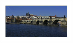 Charles Bridge, Palace & Castle Prague (prendergasttony) Tags: elements water castle prague charles bridge blue river nikon d7200 outdoors palace arches czechrepublic sky holiday vacation historic