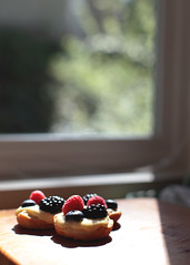 fruit tart 2 (Christine Marie Gordon) Tags: fruit tart berry berries pastrycream cream pastry bake baker food dessert eat kitchen fresh rustic spring summer red blue wood ingredients delicious tasty cute pretty sweet sugar eggs butter raspberry blackberry blueberry window light shadow
