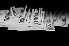 Moos (rhardinghaus) Tags: hsfluessig currency finance papercurrency business wealth banking success dollar nopeople savings blackbackground businessconcepts investment makingmoney debt euro geld geldscheine hundert fünfzig