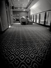 A ras (Bonsailara1) Tags: dxb dubai airport aeropuerto business lounge blackandwhite blancoynegro moqueta rug low