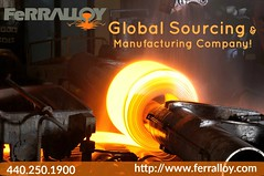 Global Sourcing and Manufacturing Management Company (Ferralloy) Tags: zirconium inconel stellite globalsourcing forgings steelforgings titaniumfasteners steelcastings alloycastings investmentcastings ringrolling radianttubes forgingrings supplychainmanagement rolledringforgings metalworking opendieforging closeddie forging