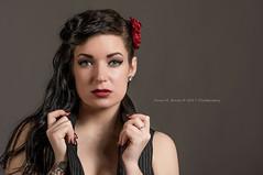 Amanda Lynn (Dana Brady -Thank you for 1 million views) Tags: redflower pinstripe pinup model blueeyes beauty sexy portrait