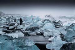 Islande, plage, 4 (Patrick.Raymond (3M views)) Tags: islande hdr mer plage vague gel glace hiver seul nikon