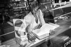 Giselle the gazelle (jrockar) Tags: street streetphoto streetphotography bw mono blackandwhite girl woman lady pretty beautiful window display reflection hloyf x100f fuji fujix candid moment instant decisive eyecontact jrockar janrockar idiot ordinary madness ordinarymadness city urban metropolis london gisellethegaselle