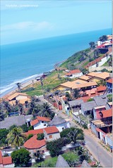 A wonderful aerial photo view of Canoa Quebrada Beach (juradecanoa) Tags: aerial photo canoa quebrada vista view landscape beach top higher square area april street natanael pereira jura montenegro casttle arts paintings