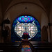 In a small church of nothern Drôme,  one of the largest  stained-glass window in Europe.