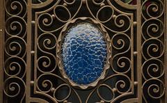 Blue hearth on iron door (Santini1972) Tags: irondoor rusty blue decoration door pattern texture nikond5100 barcelona art