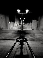 Saint Étienne by night (olivierkaminski) Tags: blackwhite noiretblanc noirblanc romantique promenade nocturne reverie saint etienne rhône alpes france noir