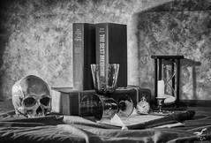 Sic Transit Gloria Mundi (REA // Photography) Tags: allisvanity bw blackwhite conceptual fleeting fleetingnessoflife impermanent stilllife temporary transient vanitas vanity worldly worldlythingsarefleeting