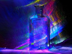 Lightpainting an old bottle.. (sue.san) Tags: