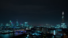 Switch Tower (dmarks) Tags: timelapse movement flow time night lights city motion lighttrails rush speed pace london urban sky river thames riverthames traffic tate switchhouse tatemodern sonya7rii
