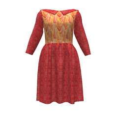 Emery Dress #SAGE Flaming Red Sprout Patterns (mom_de_bomb) Tags: sage surfaceartistsguildofexcellence fabricaddict sewing sew textiledesign sproutpatterns spoonflower thedailyseam sprout pdfpattern indiedesigners sewingpattern patterns isew fabric surfacedesign textiles