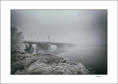 winter dreams (tmuriel67) Tags: mist ice fog river bridge atmosphere winter cold abstract snow