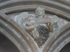 Angel Musician (Aidan McRae Thomson) Tags: worcester cathedral worcestershire medieval carving restored angel