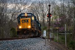 End of Their Shift (Wheelnrail) Tags: indiana csx csxt train trains locomotive emd gp402 j780 railroad rail road signal signals rural freight local cpl bo subdivision spring evening