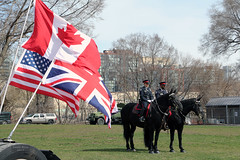 Alliance (Canadian Pacific) Tags: toronto ontario canada canadian forces armed army fortyork national historic site reenactment worldwar one 1 i wwi great war 1917 battle vimyridge 2017 100th 100 anniversary centenary remembrance 2017aimg7791 british american flag flags horse mounted police unit unionjack