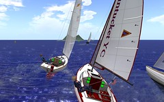 IF racing @NYC - Always fun to battle in close quarters... (vivipezz) Tags: secondlife sailing sl nyc nantucket bandit if