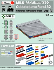 MILS MultiRoad Cobblestone Instructions (michaelgale) Tags: lego mils modular roads module instructions lgauge lgaugeorg